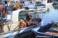 PESCATORE CHE RASSETTA LE RETI IN PORTO  - Aci trezza (4057 clic)