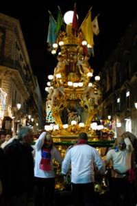Sant'Agata 2006, una candelora  - Catania (2769 clic)