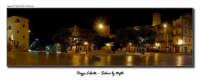 Piazza Libertà a Salemi. Un 180° notturno. Si vede a sinistra la statua di San Nicola, patrono della città.  - Salemi (4337 clic)