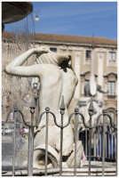 Particolare della fontana sul fiume Amenano.  Questa fontana si trova a piazza Duomo e viene chiamata anche acqua a linzolu per il velo d'acqua, a volte continuo, che forma.  - Catania (2270 clic)
