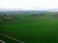Le colline tra Enna e Caltanissetta in una foto fatta col telefonino dall'autobus in corsa. La pessi
