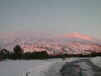 Panorama del Vulcano Etna a quota 1735 mt slm in un tardo pomeriggio di Gennaio 2005  - Etna (5541 clic)