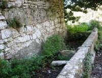 Bosco d'Alcamo - Riserva Naturale Orientata - sul monte Bonifato: La Funtanazza, grande serbatoio pubblico di età medievale - 8 dicembre 2006  - Alcamo (2918 clic)