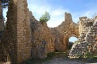 sulla rupe i ruderi del Castello Eufemio, di epoca medioevale - 4 ottobre 2007  - Calatafimi segesta (630 clic)
