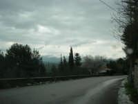 panorama dal monte Bonifato: le montagne innevate lato est - 15 febbraio 2009   - Alcamo (2869 clic)