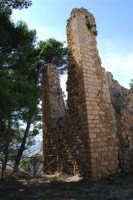 sulla rupe i ruderi del Castello Eufemio, di epoca medioevale - 4 ottobre 2007  - Calatafimi segesta (830 clic)