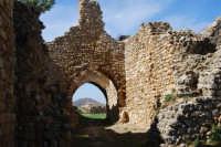 sulla rupe i ruderi del Castello Eufemio, di epoca medioevale - 4 ottobre 2007  - Calatafimi segesta (637 clic)