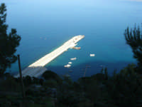 panorama dal Belvedere: continuano i lavori al porto - 3 marzo 2008  - Castellammare del golfo (561 clic)
