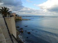 da Cala Petrolo, l'ingresso al porto ed il Castello - 11 dicembre 2009  - Castellammare del golfo (2177 clic)