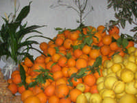 Gli altari di San Giuseppe - limoni ed arance da offrire ai visitatori - 18 marzo 2009  - Balestrate (3682 clic)