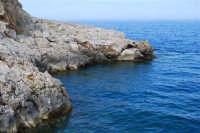 Capo San Vito - le rocce ed il mare - 10 maggio 2009  - San vito lo capo (1719 clic)