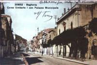 Corso Umberto I con Palazzo Municipale  - Bagheria (2363 clic)