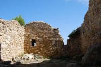 sulla rupe i ruderi del Castello Eufemio, di epoca medioevale - 4 ottobre 2007   - Calatafimi segesta (659 clic)