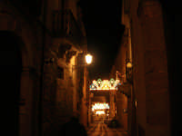 la via F. D'Aguirre, dove si trova il Museo di Arte Sacra - 2 gennaio 2009    - Salemi (2380 clic)