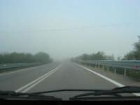 banco di nebbia in dissolvimento - 25 febbraio 2008  - Castellammare del golfo (557 clic)