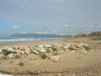 zona Tonnara - golfo di Castellammare, lato est, e monti del palermitano innevati - 16 febbraio 2009  - Alcamo marina (2565 clic)