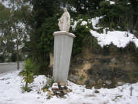neve sul monte Bonifato - l'Immacolata - 15 febbraio 2009     - Alcamo (3328 clic)