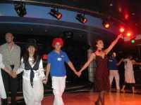 spettacolo a bordo della Excellent - Grandi Navi Veloci - 8 luglio 2009  PALERMO Lidia e Nicola
