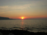 Golfo di Bonagia - tramonto - 12 ottobre 2008   - Cornino (807 clic)