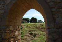 sulla rupe i ruderi del Castello Eufemio, di epoca medioevale - 4 ottobre 2007   - Calatafimi segesta (632 clic)