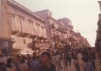 Festeggiamenti in onore di Maria Santissima dei Miracoli - Corso VI Aprile - dopo le corse dei cavalli - giugno 1979  - Alcamo (4574 clic)