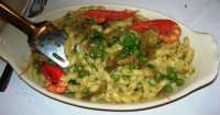 al Ristorante del Golfo (da Liborio - specialità pesce): busiate con piselli, carciofi e gamberi - 1 maggio 2007  - Castellammare del golfo (2367 clic)