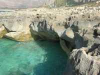 Golfo del Cofano - rocce e mare spettacolare - 29 luglio 2009  - Custonaci (1538 clic)