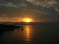 tramonto sul golfo di Castellammare - 23 settembre 2007  - Terrasini (1175 clic)
