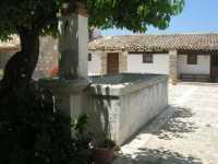 Fattoria Manostalla Villa Chiarelli - fontana al centro del cortile interno - 7 giugno 2009  - Partinico (4188 clic)