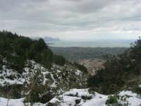 neve sul monte Bonifato e panorama del golfo di Castellammare - 15 febbraio 2009     - Alcamo (3196 clic)