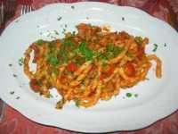 Busiate del Casale con pomodorino e pancetta di maiale - 27 settembre 2009   - Buseto palizzolo (4069 clic)