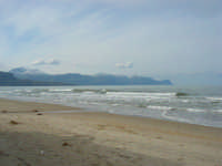 zona Tonnara - golfo di Castellammare, lato ovest, e monti innevati - 16 febbraio 2009  - Alcamo marina (2442 clic)