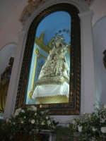 Santuario della Madonna del Ponte - interno - la Madonna - 5 ottobre 2008  - Partinico (3176 clic)