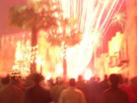 notte di capodanno in piazza Ciullo - spettacolo pirotecnico - 1 gennaio 2009  - Alcamo (3143 clic)