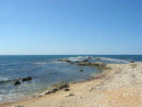mare e scogliera dal Villino Nasi - 6 settembre 2007  - Trapani (1022 clic)