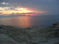 Spiaggia Maidduzza dopo il tramonto - 23 settembre 2007   - Terrasini (2258 clic)