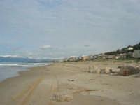 zona Tonnara - golfo di Castellammare, lato est, e monti del palermitano innevati - 16 febbraio 2009  - Alcamo marina (2469 clic)