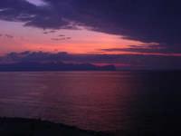 dalla Spiaggia Maidduzza dopo il tramonto - 23 settembre 2007   - Terrasini (1585 clic)