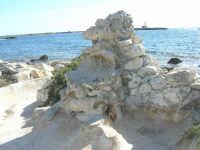 fontana (asciutta) ed il faro visto dal Villino Nasi - 6 settembre 2007  - Trapani (1024 clic)