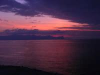 dalla Spiaggia Maidduzza dopo il tramonto - 23 settembre 2007   - Terrasini (1504 clic)