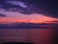 dalla Spiaggia Maidduzza dopo il tramonto - 23 settembre 2007   - Terrasini (1561 clic)