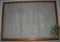 Trittico ARTE - LETTERATURA - SCIENZA di L. Addezio SCUOLA E PROGRESSO - 1968, esposto presso l'Istituto Comprensivo G. Pascoli - 16 gennaio 2008  - Castellammare del golfo (988 clic)