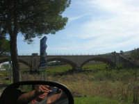ponte ferroviario (la foto e chi la scatta: effetto specchietto!) - 4 ottobre 2007  - Calatafimi segesta (1147 clic)