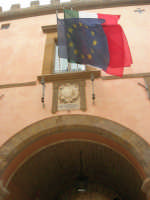 ex Quartiere Spagnolo, attuale sede del Palazzo del Comune: l'ingresso, particolare - 24 settembre 2007  - Marsala (982 clic)