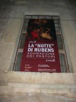 Museo di Arte Sacra - locandina: LA NOTTE DI RUBENS - ADORAZIONE DEI PASTORI - 2 gennaio 2009   - Salemi (2910 clic)