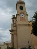 campanile con orologio della Chiesa Madre Maria SS. delle Grazie - 23 marzo 2008   - Terrasini (1788 clic)