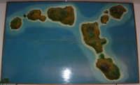Villaggio Turistico Capo Calavà: plastico delle Isole Eolie esposto nel ristorante - 23 luglio 2006  - Gioiosa marea (3462 clic)