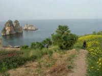 faraglioni e sentiero che porta alla tonnara - 19 aprile 2008   - Scopello (829 clic)