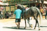 Festeggiamenti in onore di Maria Santissima dei Miracoli, Patrona di Alcamo - Il Palio - Viale Italia - Partenza da Piazza Pittore Renda - 19 giugno 2002  - Alcamo (1556 clic)