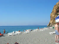 Villaggio Turistico Capo Calavà: la spiaggia - All'orizzonte si intravedono le Isole Eolie - 23 luglio 2006  - Gioiosa marea (2988 clic)